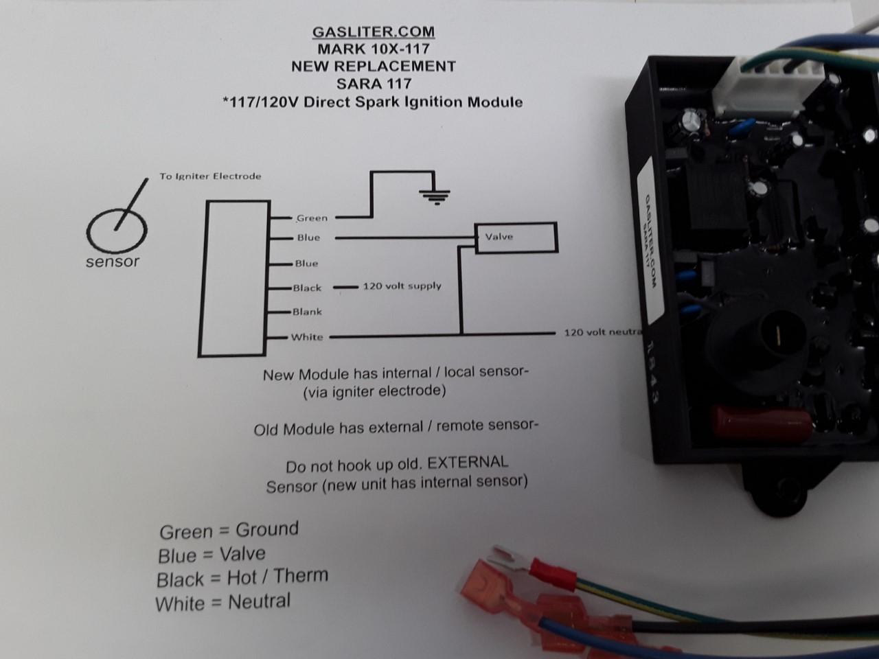 sara 117x – ( 117v dsi w/ wiring harness ) | gasliter.com  gasliter.com